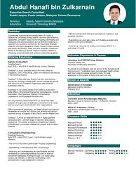 Resume Terkini 2016 2017 Consultant Recruitment