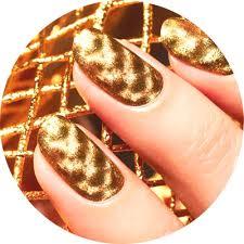Zlatá Manikúra Dokonalý Styl A Luxus Foto