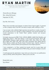 Pdf Cover Letter Pilot Cover Letter Example