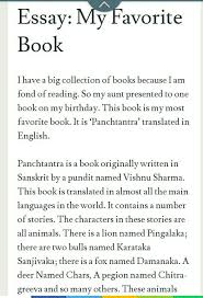 My Favourite Story Essay Short Essay On My Favourite Story Book For Class 6 Brainly In