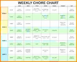 Roommate Chore Chart Excel Chore Charts For Roommates Chore