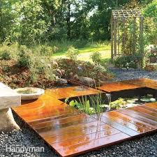 how to build a garden pond and deck diy