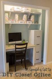 office in a closet design.  Closet A Spoonful Of Spit Up DIY Closet Office For Office In Design