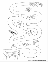 Small Picture Astounding pepperoni pizza coloring page maze sheet with pizza