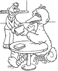 Small Picture Big Bird Coloring Page Halloween Coloring Pages Halloween Big Bird