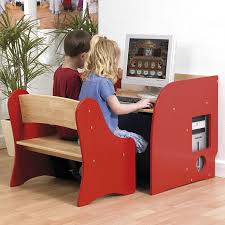 child s first computer desk and two seater bench