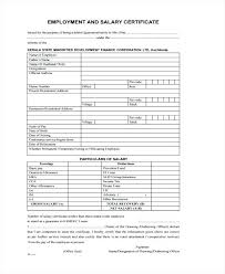 Employee Salary Certificate Example Simple Of Employment