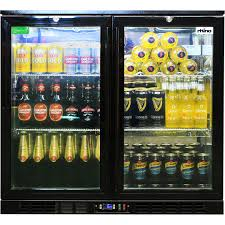 brilliant black glass door commercial under bench black glass double door bar fridge energy
