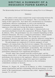 Frightening Research Paper Summary Example Museumlegs
