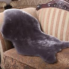 luxury faux sheepskin fur rug soft cozy throw