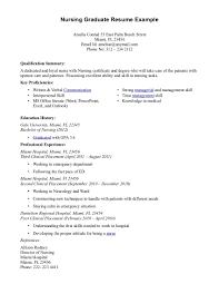New Grad Nursing Resume Examples Nurse Graduate Recent Sample