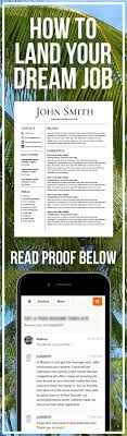 How To Land Your Dream Job Resume Template Cv Template Free