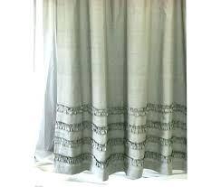 s printed linen shower curtain bathroom inspiration textiles gray light grey