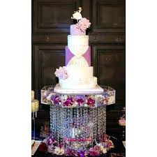 crystal cake stand wedding with crystals chandelier acrylic beads cupcake dessert silver