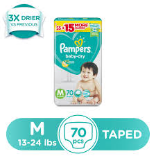 Diaper Price Comparison Chart Philippines Pampers Baby Dry Medium 13 24 Lbs 70 Pcs X 1 Pack 70pcs Taped Diapers