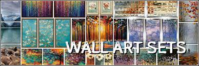 wall art sets framed canvas art