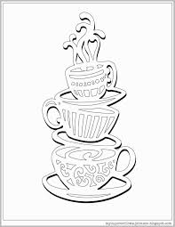 Coffee Mug Coloring Page Cute My Cup Overflows Best Of Coloring Page