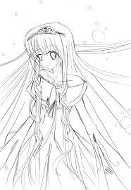 Cute Anime Girl Coloring Pages Printable In Online Wumingme