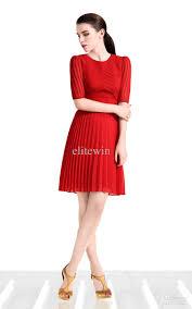 2017 Women Work Dress Fashion Dress Street Style Red Black Ruffle