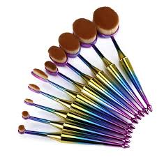 mermaid makeup brushes. 10pc rose gold and mermaid makeup brush kit brushes