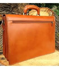 16 hand crafted in italy tan briefcase designer leather laptop satchel portfolio messenger bag
