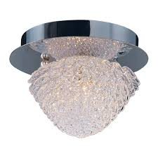 add glamour to your home with this unique flush mount light featuring overlapping petal