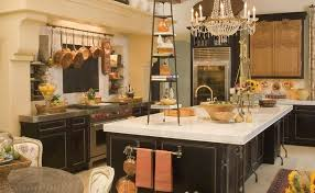 French Country Kitchen Decor Grey Color Granite Countertop Kitchen
