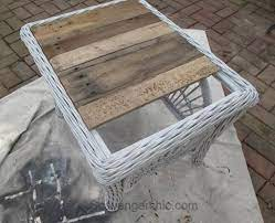 pallet furniture outdoor wicker table