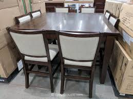 pulaski furniture 9 piece counter height dining set costco
