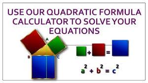 quadratic formula calculator to solve
