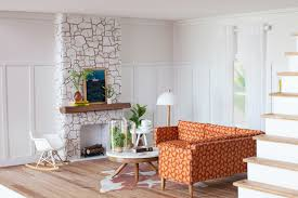 dollhouse modern furniture. Beautiful Dollhouse Mid Century Modern Miniature Dollhouse On Furniture