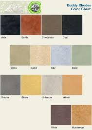 coletti concrete studio color charts