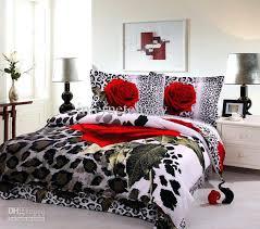 rose bed sets furniture excellent cheetah print and red bedding 9 leopard comforter set best my