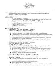 hotel job resume apigramcom