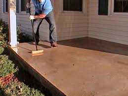 Stamped Concrete Kitchen Floor How To Stamp A Concrete Porch Floor How Tos Diy