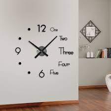 3d wall sticker clock silent large wall