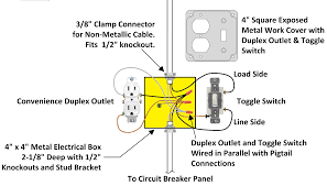 how to wire an attic electrical outlet and light switch receptacle light switch plug wiring diagram how to wire an attic electrical outlet and light switch receptacle in wiring diagram for