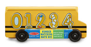 amazon melissa doug number matching math bus educational toy with 10 numbers 3 math symbols and 5 double sided cards toy toys games