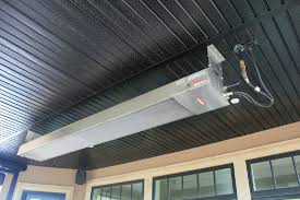 in fact the calcana outdoor heater has some of the t clearance to combustible measurements that means you can mount your heater on ceilings and walls