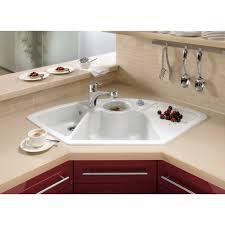 corner white porcelain undermount sink with drain board and glass undermount porcelain kitchen sink