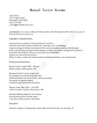 Sample Software Tester Resume Ideas Of Manual Testing Resume Samples