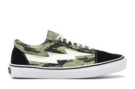 Revenge X Storm Low Top Green Camo Sneakers