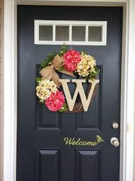 front door decor summerBest 25 Front door decor ideas on Pinterest  Letter door wreaths