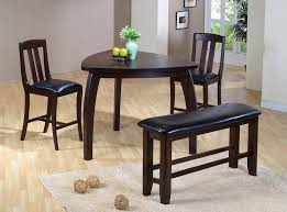 image of traditional triangle dining table set