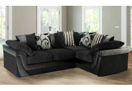 Large Black Fabric Corner Sofa Savae Org