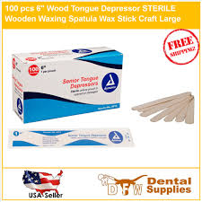 details about 100 pcs 6 wood tongue depressor sterile wooden waxing spatula wax stick craft l