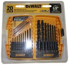 metal drill bit set. dewalt-dw1177-20-piece-black-oxide-metal-drill- metal drill bit set 4