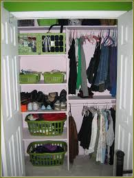 organizing a small closet for two