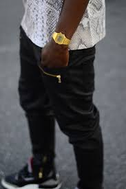 men s vintage gold casio watch my style vintage enlarged snake skin printed tee gold casio watch gold zippers on leather jeans cooler than cool swag ger