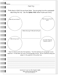writing prompt worksheets from the teacher s guide field trip writing prompt